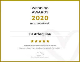 WEDDING AWARDS 2020 by Matrimonios.cl
